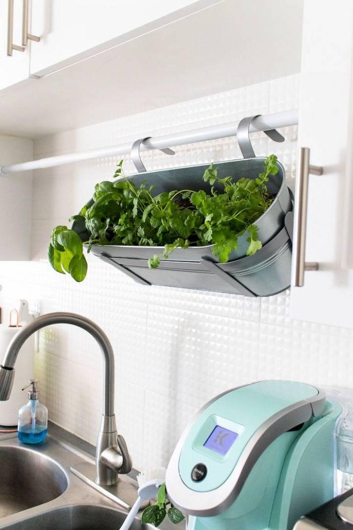 Renter friendly Hanging Herb Planter