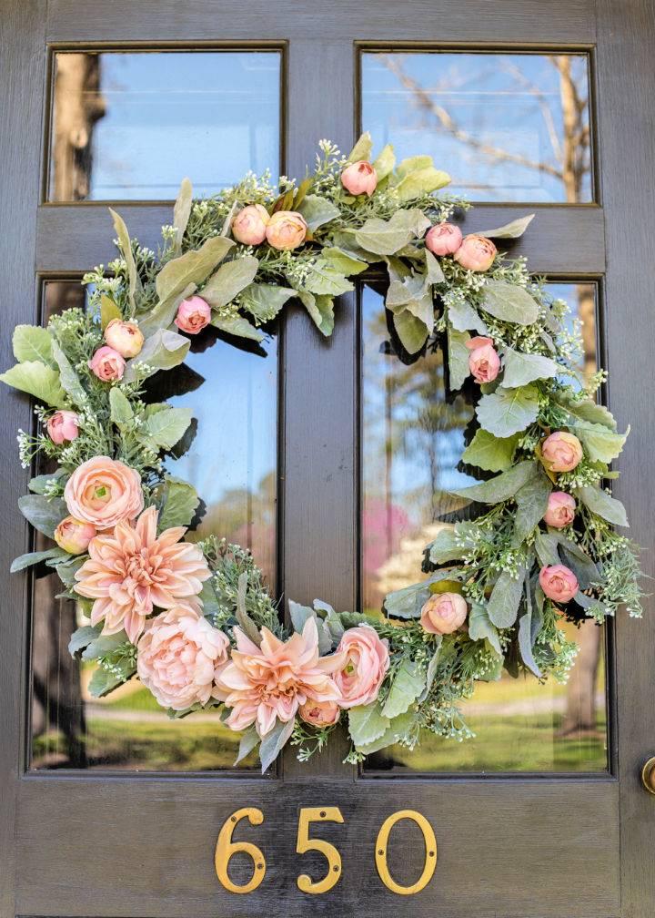 Sage and Blush Spring Wreath 1