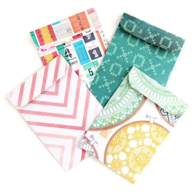 Scrapbook Paper Pocket Envelope