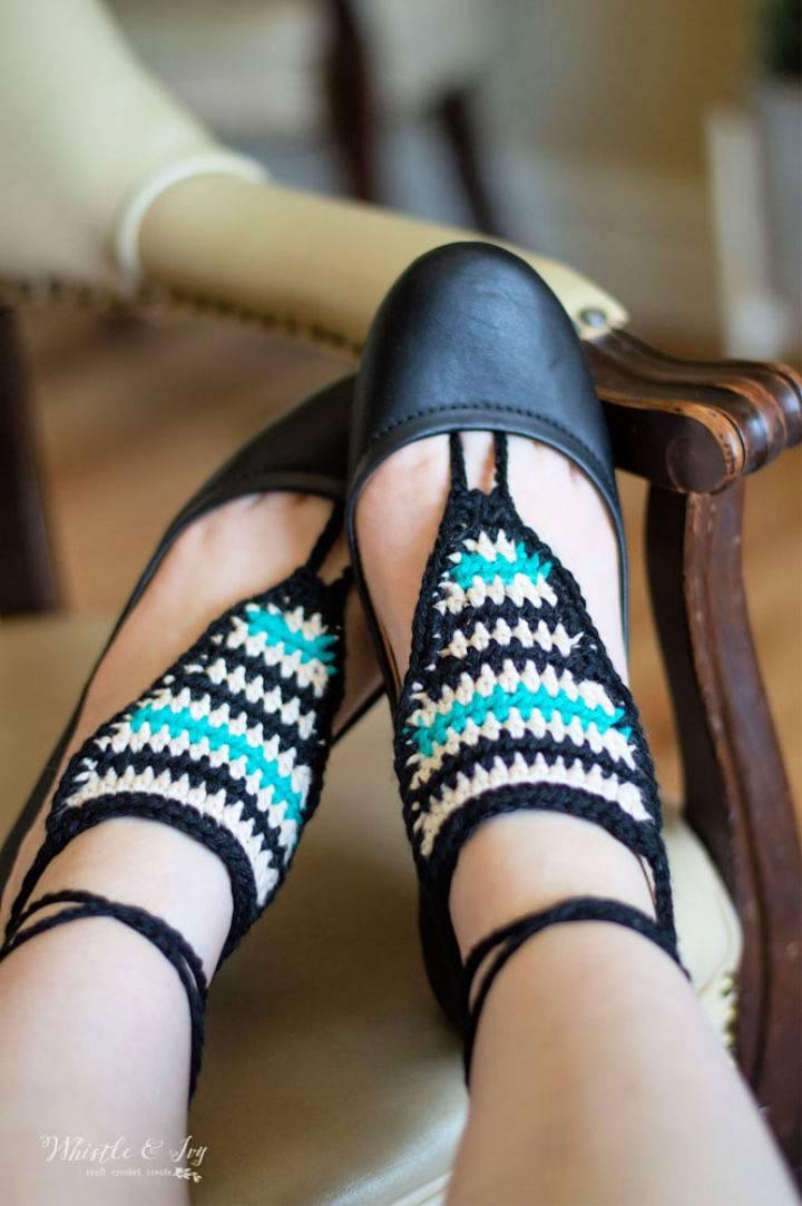 Serape Crochet Barefoot Sandals