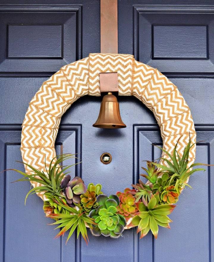 Simple Spring Succulent Wreath