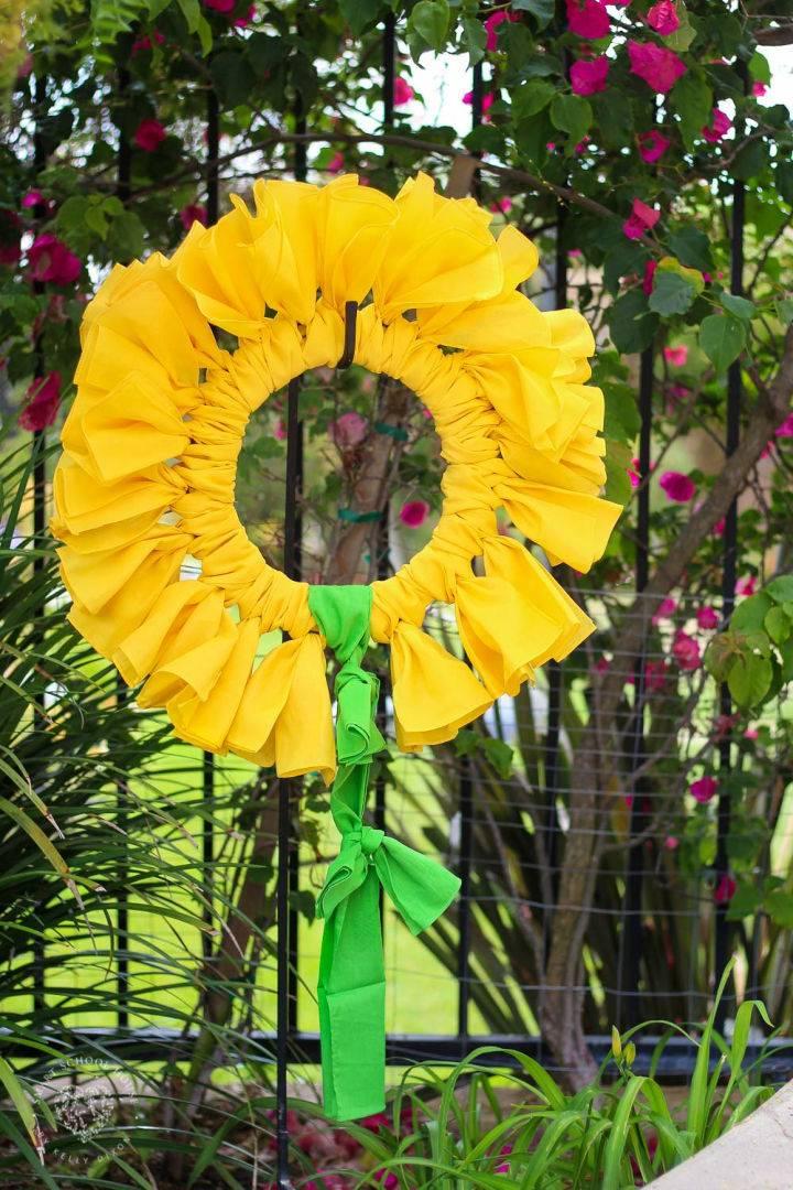 Sunflower Bandana Wreath