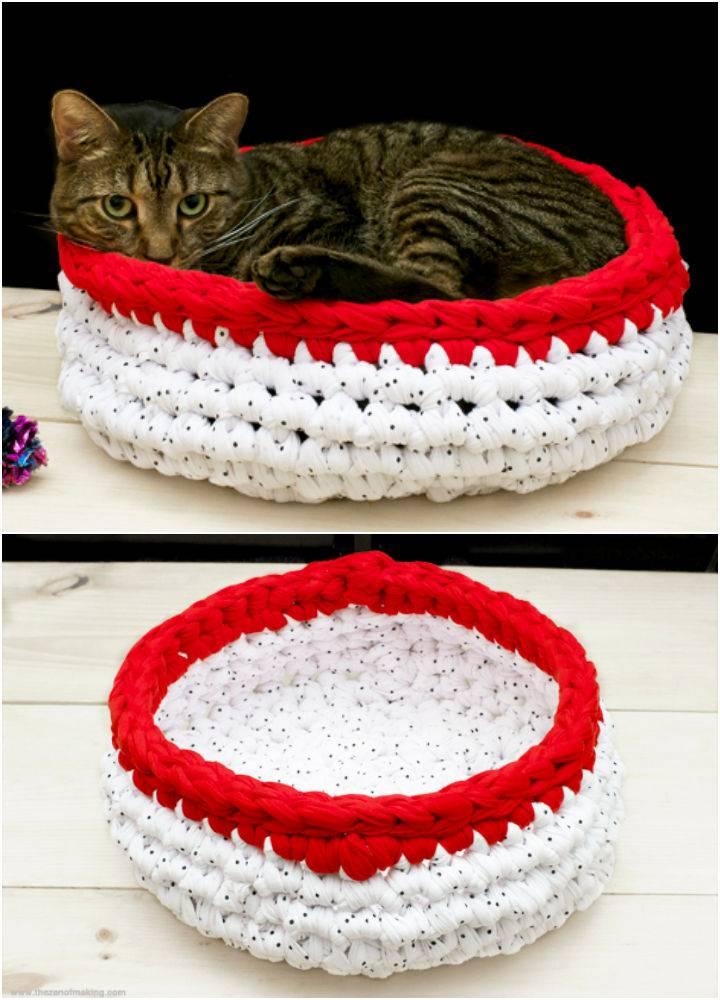 Super Bulky Cat Bed Crochet Pattern