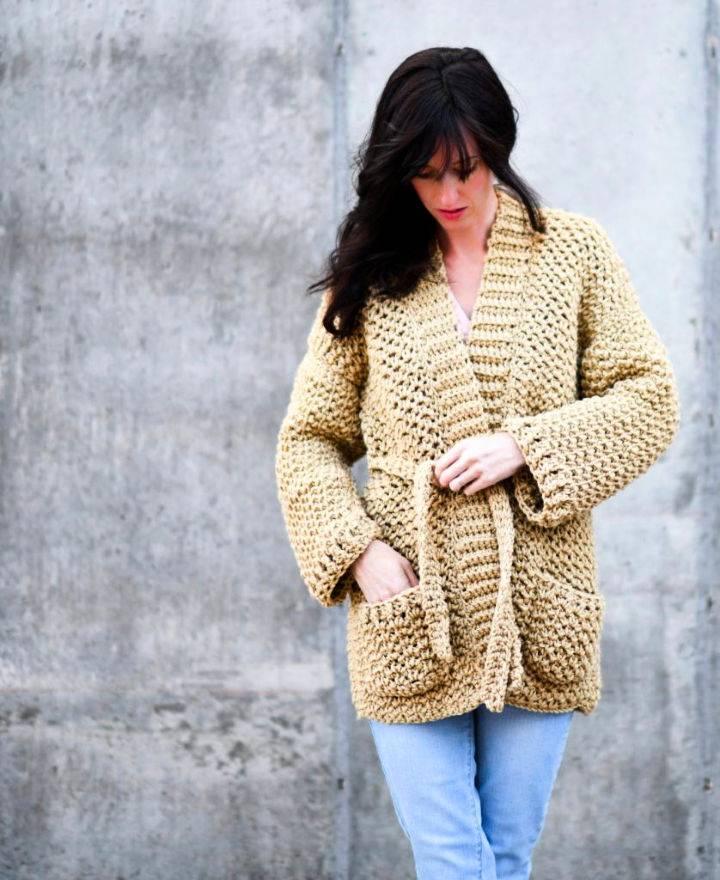 Sweater Coat Cardigan Crochet Pattern