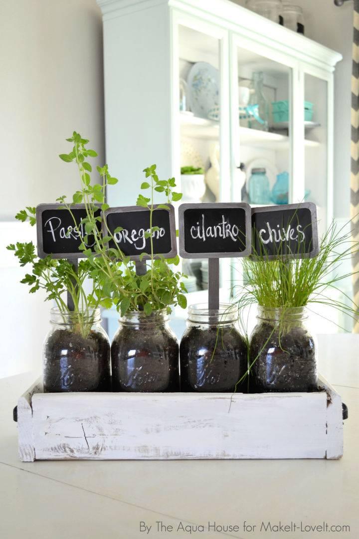Table Top Pallet Herb Garden