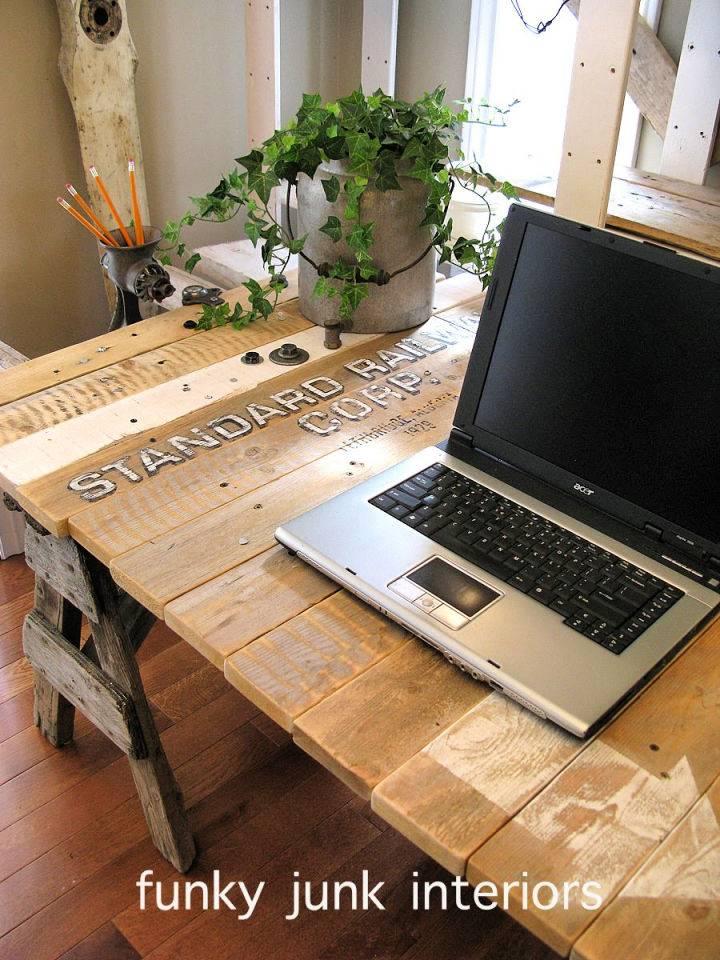 The Pallet Wood Desk Project