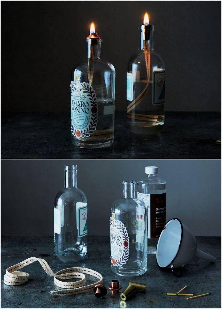Turn Booze Bottles into Mood Lighting