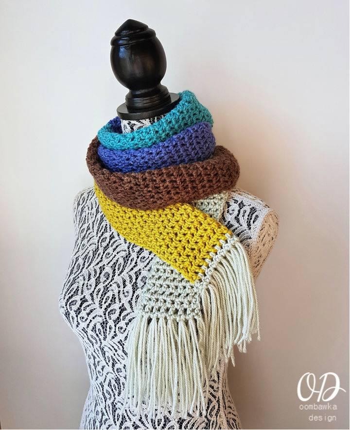 Unisex Crochet Winter Scarf Pattern