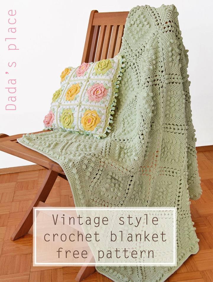 Vintage Style Crochet Blanket Pattern