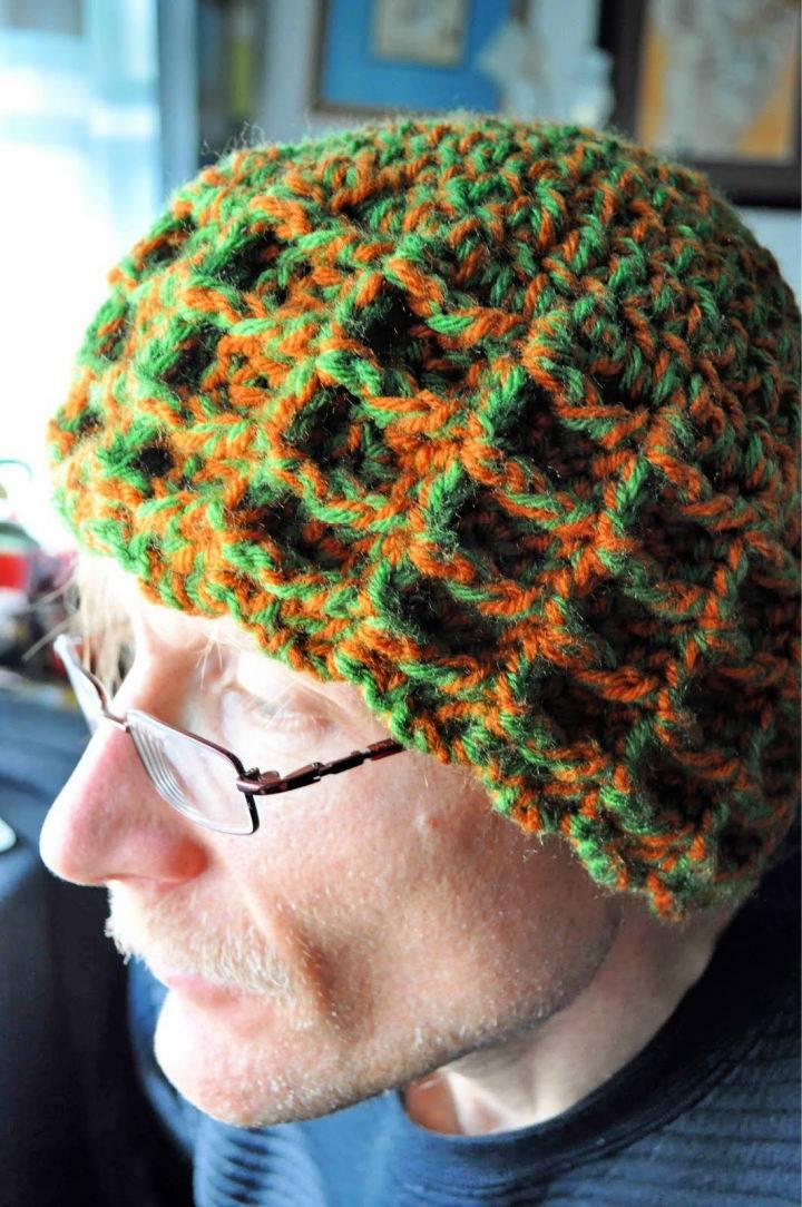 Waffle Stitch Crochet Winter Hat
