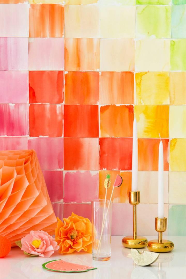 Watercolor Paper Squares Backdrop