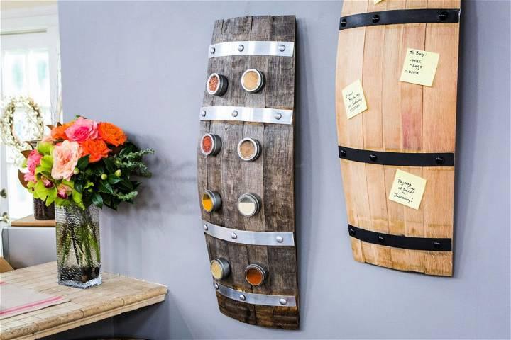 Wine Barrel Spice Rack