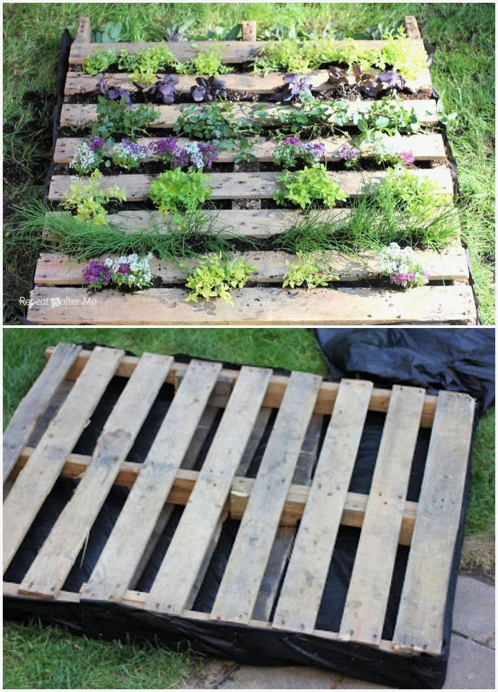 Wooden Pallet Herb Garden