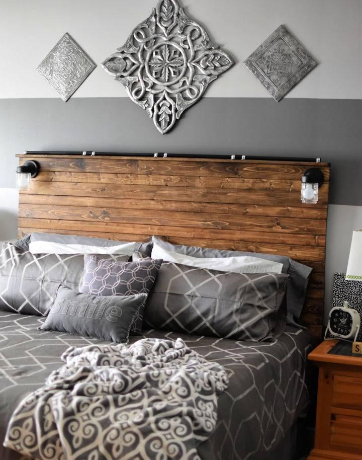 Wooden Plank Headboard