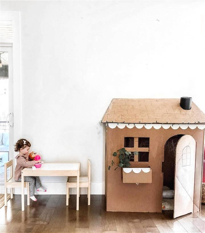 cardboard house for kids anyone can diy