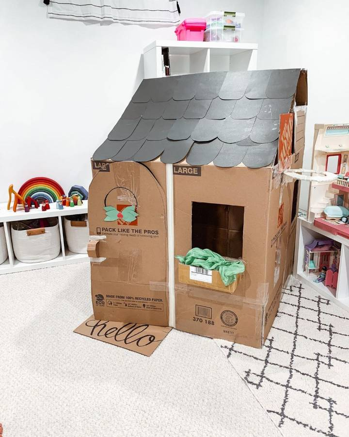 craft your own cardboard house template