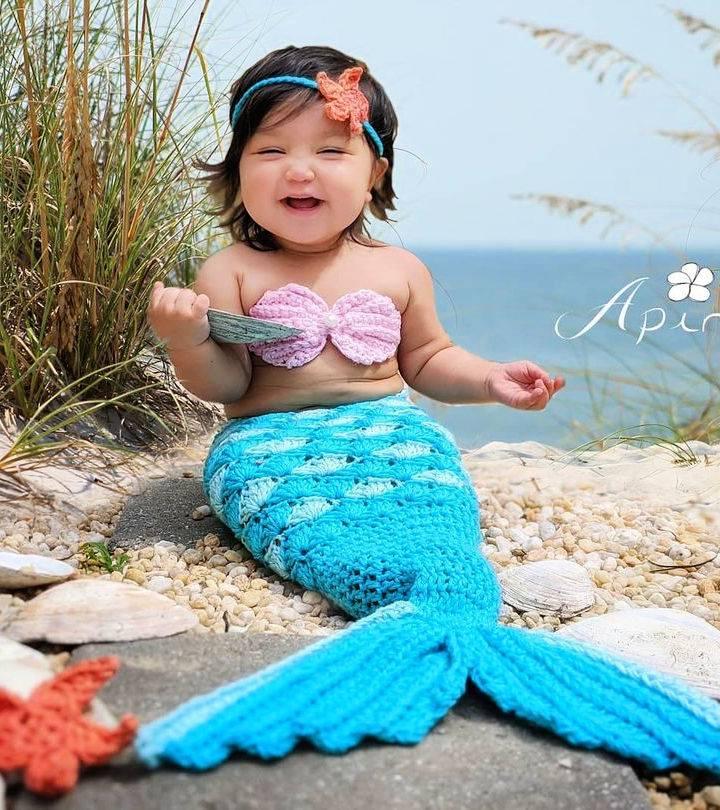 crochet mermaid tail blanket for baby