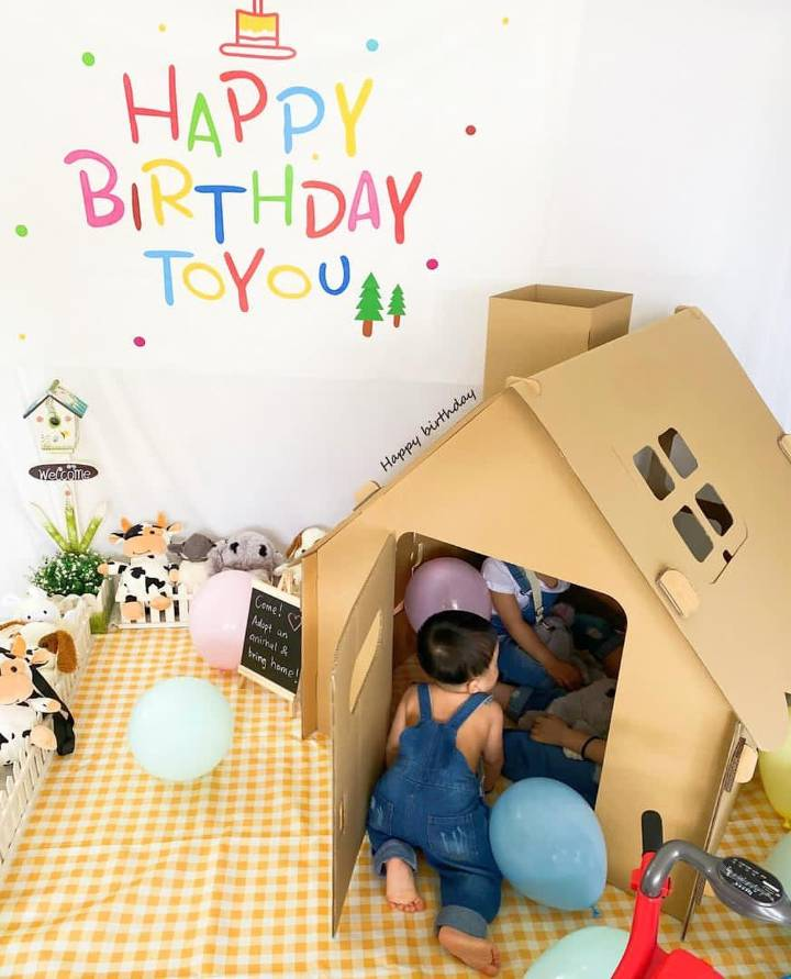 diy cardboard cat house for kids that is easy to make