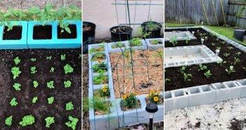easy cinder block garden ideas