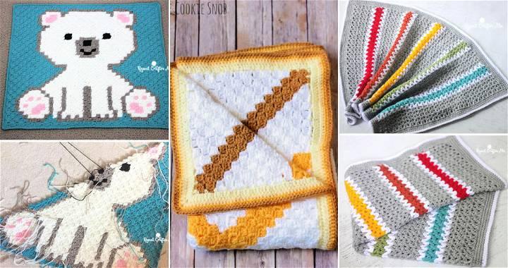 Blanket Pattern Baby Blanket Pattern Cute Character Crochet Baby Blanket Pattern