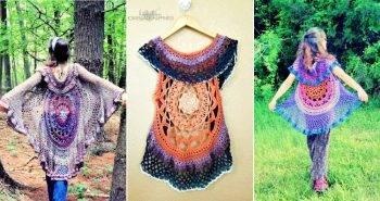 free crochet mandala vest pattern