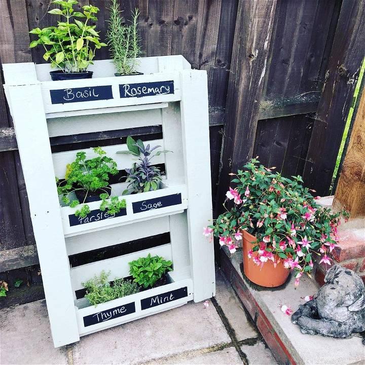 how to make pallet herb garden
