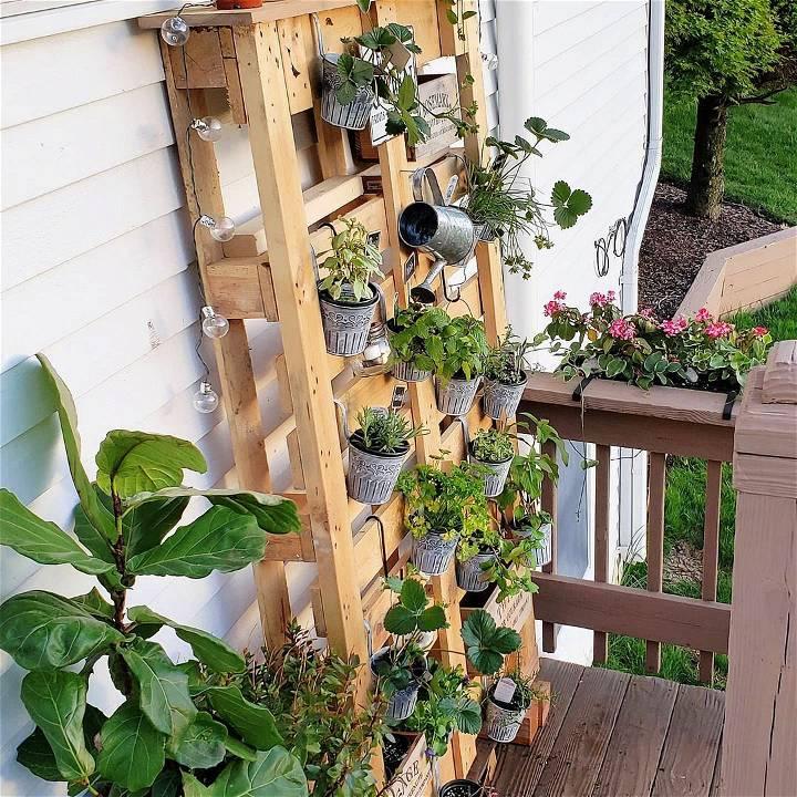 my pallet herb garden wall