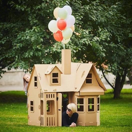 outdoor cardboard box house