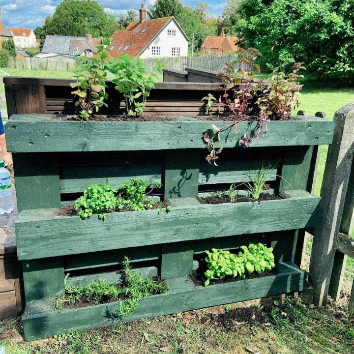 very happy with how this pallet herb garden turned out.