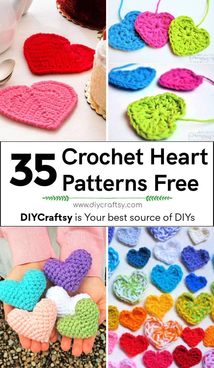 35 Free Crochet Heart Patterns for Beginners