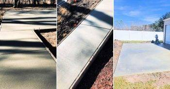 how to pour a concrete slab at home