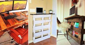 DIY Pallet Desk Plans with Step by Step Instructions