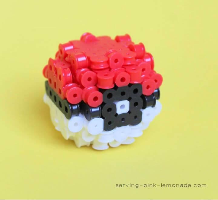3D Perler Bead Pokeball