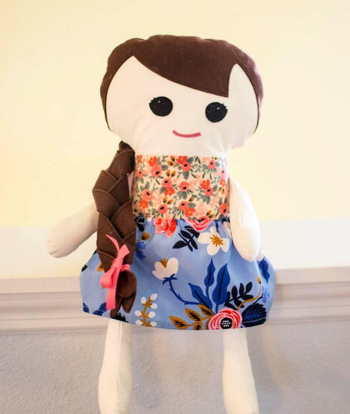 Adorable Free Stuffed Doll Pattern