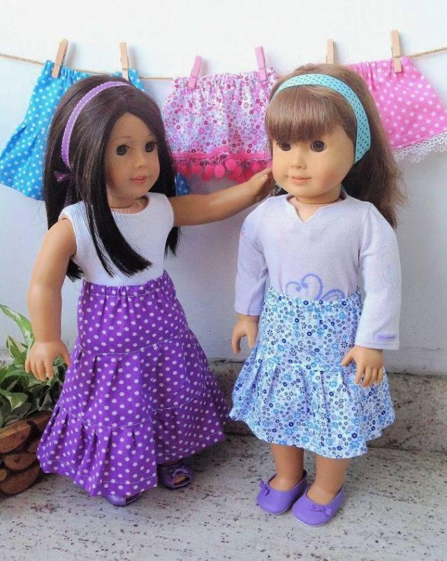 American Doll Skirt Free Clothing Pattern