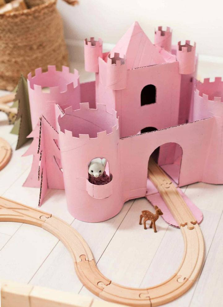 Build A Toy Castle from Upcycled Cardboard