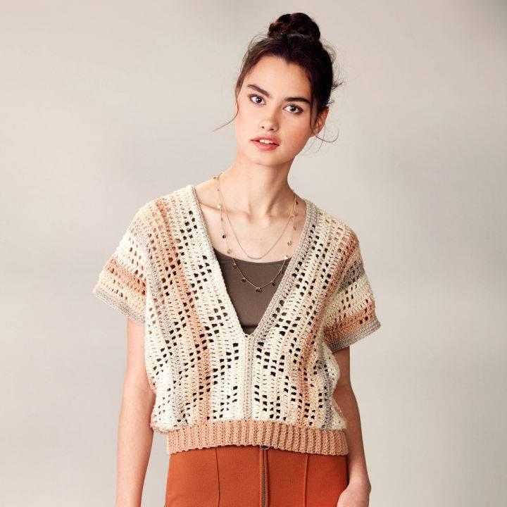 Caron Summer Breeze Crochet Top