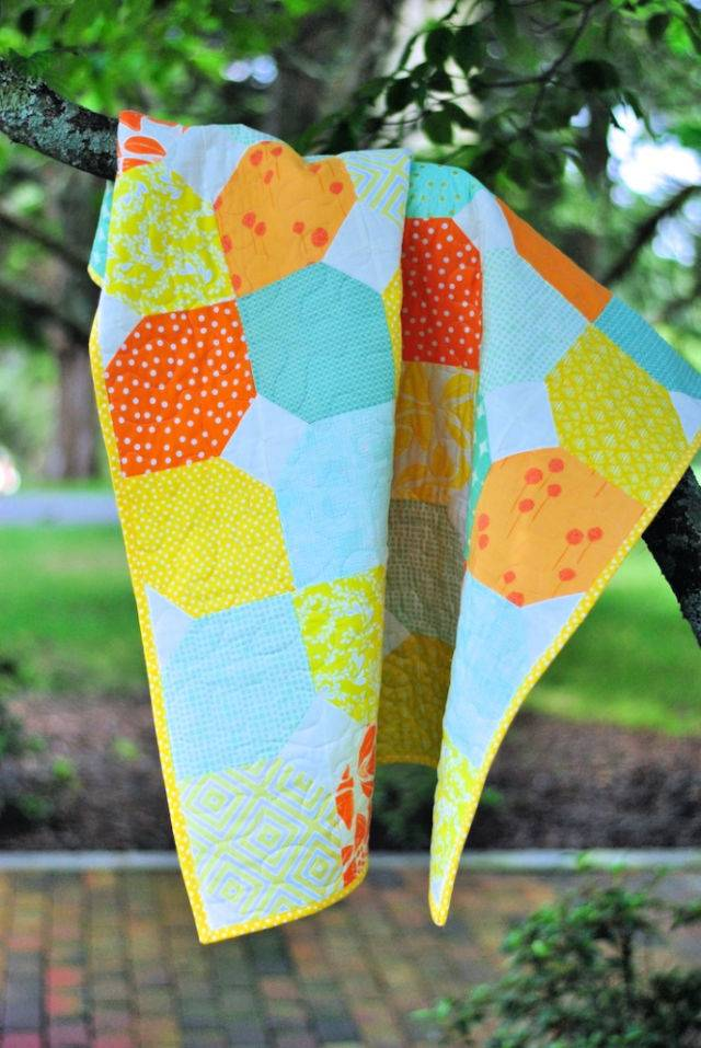 Citrus and Mint Baby Quilt Pattern