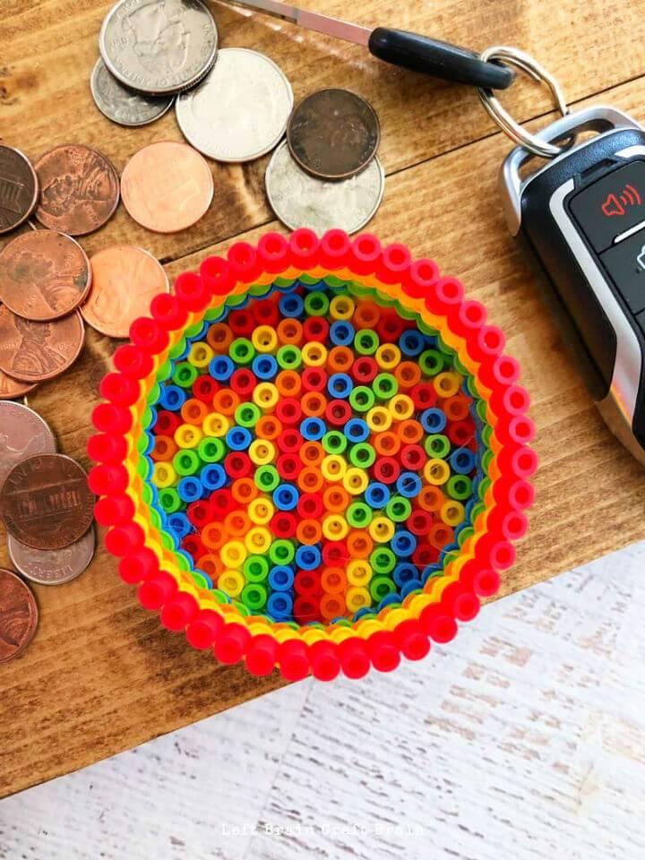 Colorful Perler Beads Change Holder