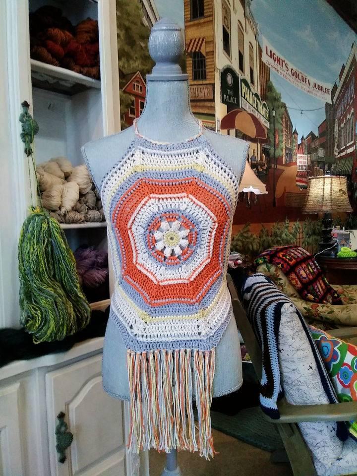 Crochet Feeling Groovy Halter Top