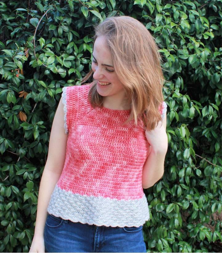 Crochet She Sells Sea Shells Top