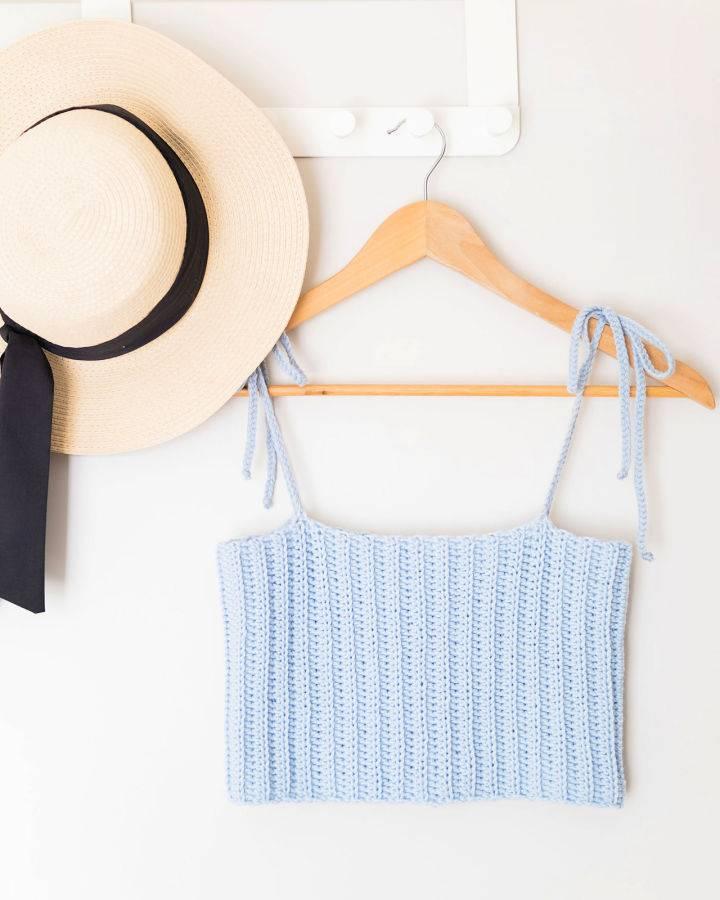 Crochet Skylar Ribbed Crop Top
