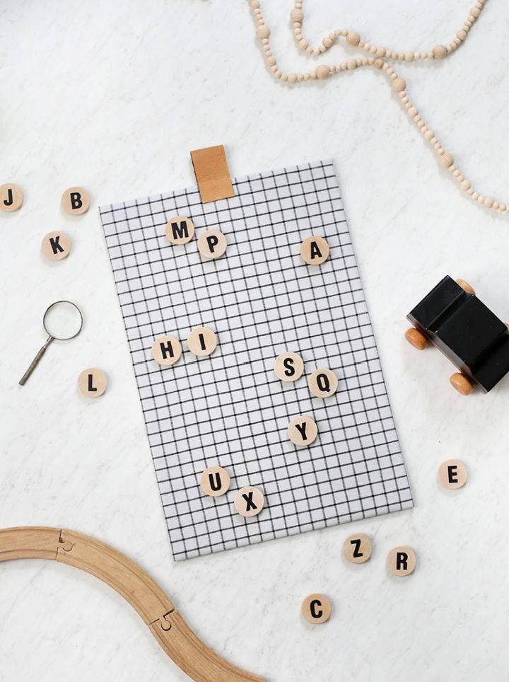 DIY Alphabet Magnet Board