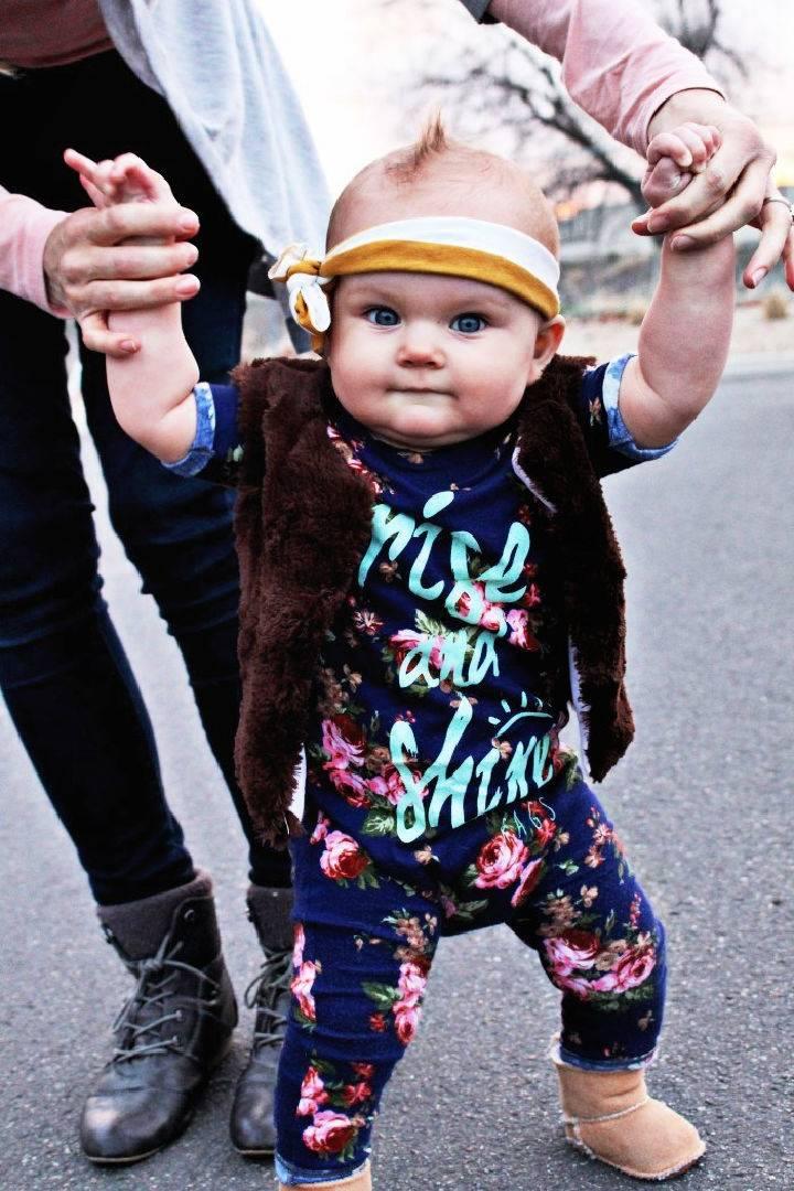 DIY Baby Faux Fur Vest