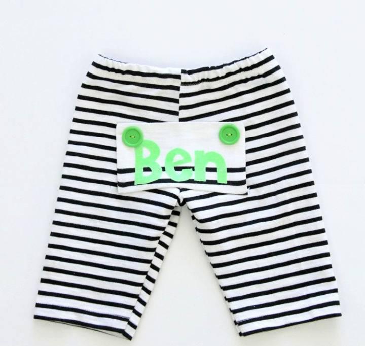 DIY Drop Bottom Baby Pants