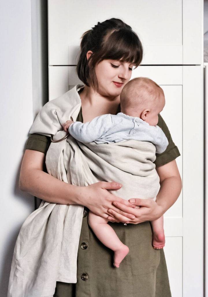 DIY Linen Ring Sling Baby Carrier