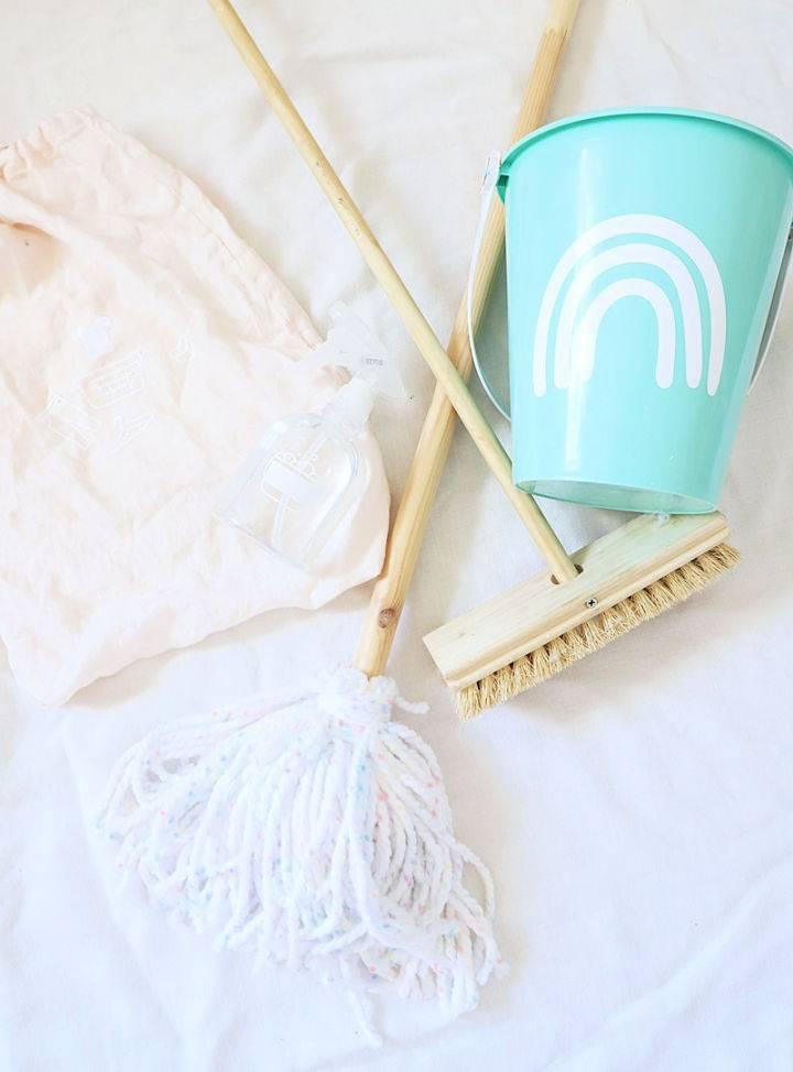 DIY Toddler Toy Cleaning Set