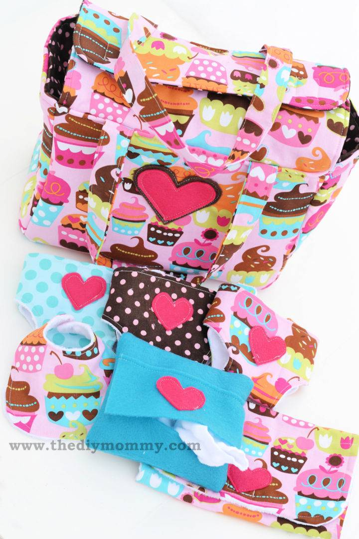 Deluxe Dolly Diaper Bag and Accessories