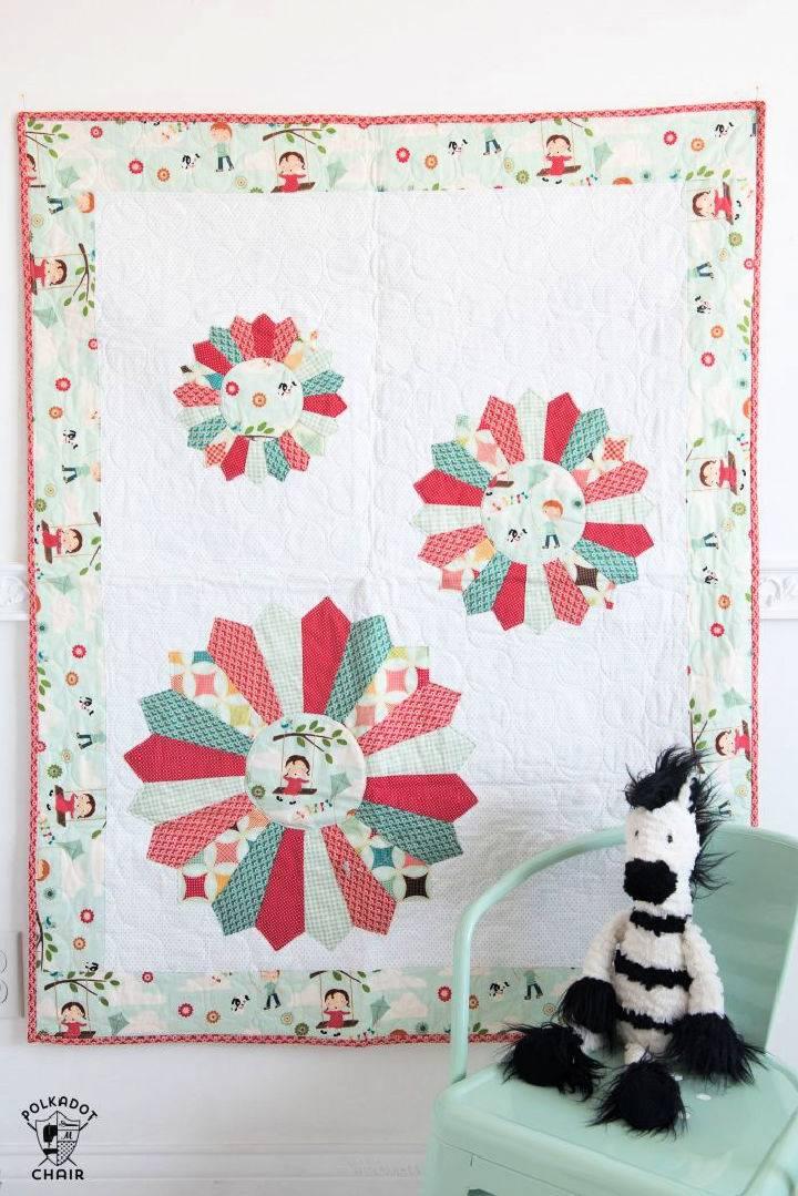 Dresden Burst Baby Quilt Pattern