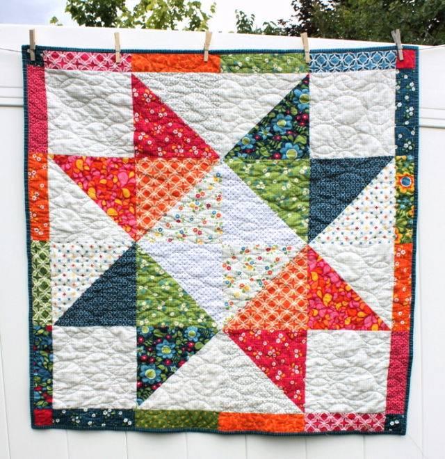 Easy DIY Star Baby Quilt